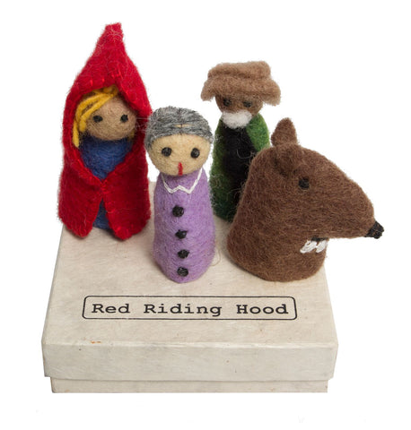 Papoose Red Riding Hood Finger Puppets