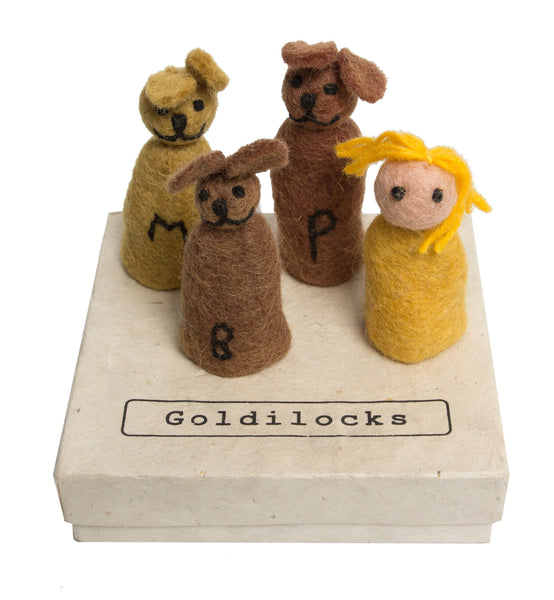 Papoose Goldilocks and the Three Bears Finger Puppets