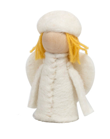 Papoose White Angel Elf Doll