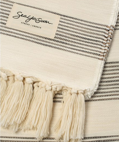 Sea You Soon Palmaria Beach Towel Beige