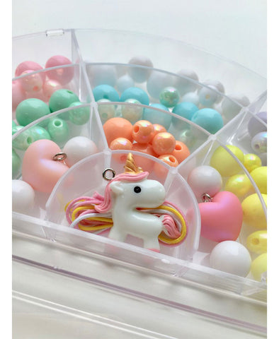 Red Bobble Pastel Arch Unicorn BIY