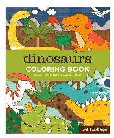 Petit Collage Dinosaurs Colouring Book