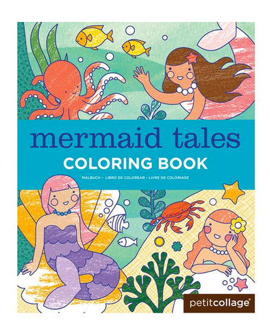 Petit Collage Mermaid Tales Colouring Book