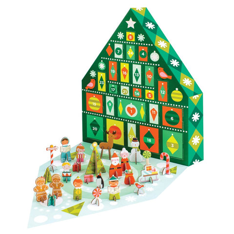 Petit Collage Tree Winter Wonderland Pop Out Advent Calendar