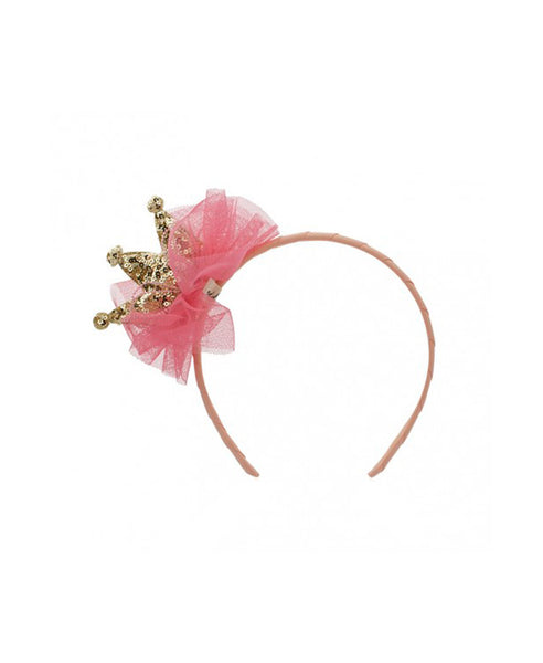 Milk & Soda Little Princess Headband - Melon/Gold