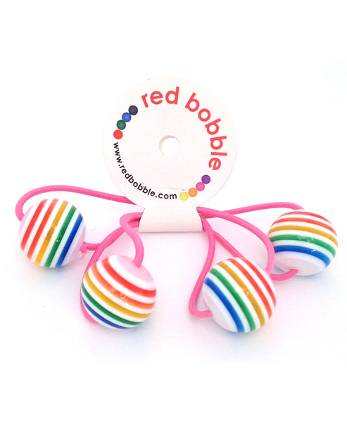 Red Bobble 2 Pack - Rainbow