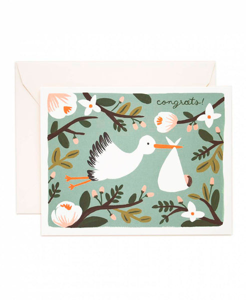 Rifle Paper Co. Congratulations Stork Card