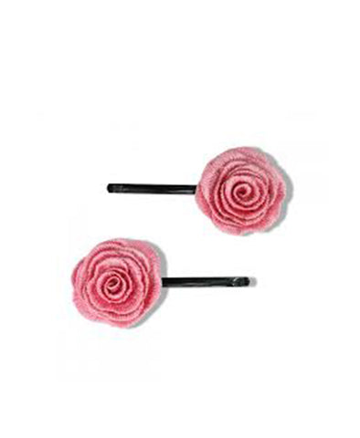 Milk & Soda Flower Hair Pin - Rose Pink