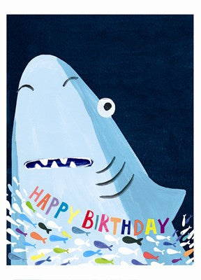 Paper Salad Jamboree Shark Happy Birthday Card