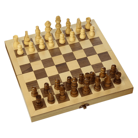 Classic Games Collection Wood Chess Set 10.5""