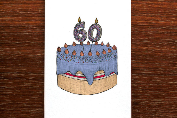The Nonsense Maker 60th Birthday Cake Card