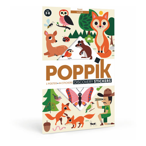 Poppik Discovery Stickers - Forest Animals