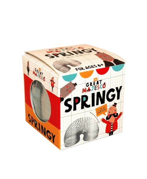The Great Majesco Springy in a Box Slinky
