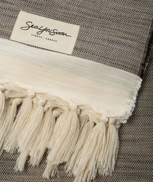 Sea You Soon Tino Towel Beige