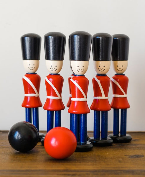 Knox and Floyd Wooden Skittle Soldiers