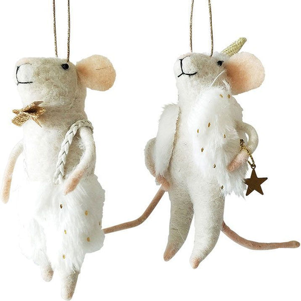 Urban Dressy Mice Hanging Felt Decoration - Vest