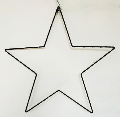 Urban LED Hanging Star - Black 60cm