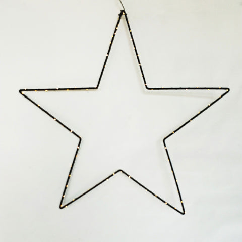 Urban LED Hanging Star - Black 80cm