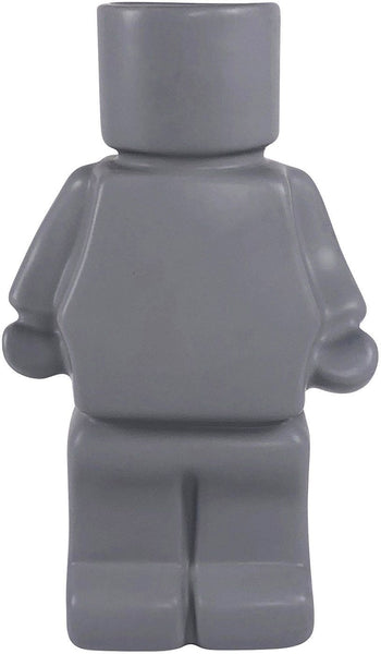 Urban Block Man Planter: Grey 22cm