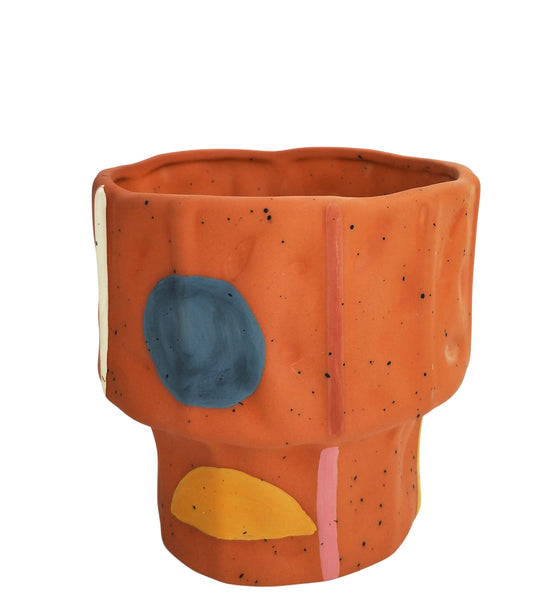 Urban Windsor Terracotta and Mustard Planter Small