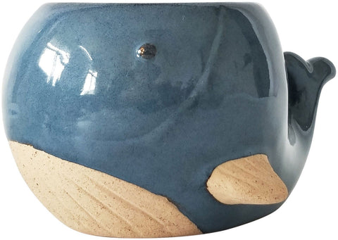 Urban Whale Planter Blue