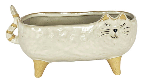 Urban Cat Planter White Large