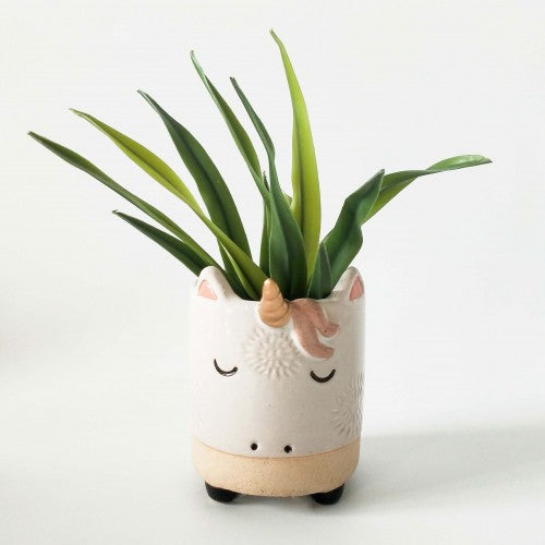 Urban Unicorn Planter White Sand Small