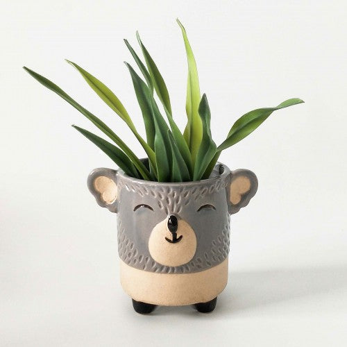 Urban Koala Planter Grey Sand Small