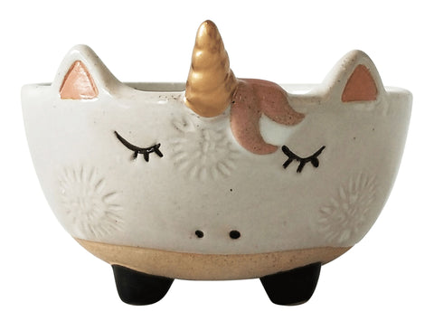Urban Unicorn Bowl: White and Sand 12cm