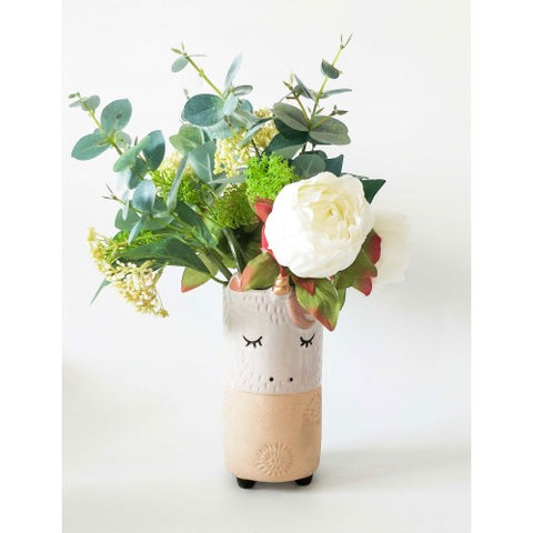 Urban Unicorn Vase White Sand Medium