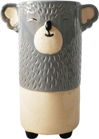Urban Koala Vase: Grey and Sand 18cm