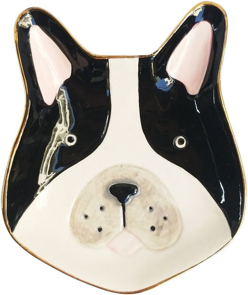 Urban French Bulldog Trinket Dish Monochrome Small