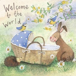 Alex Clark Art Welcome to the World Baby Card