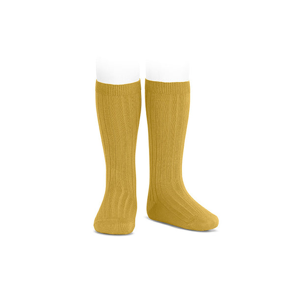 Condor Knee Hi Ribbed Sock (#629 Mostazo)