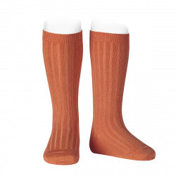 Condor Knee Hi Ribbed Sock (#691 Calabaza)