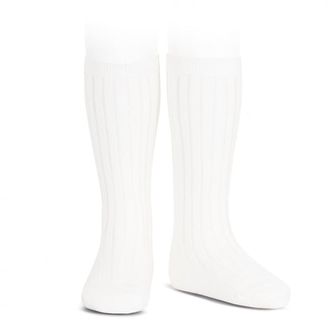 Condor Knee Hi Ribbed Sock (#200 Blanco) White
