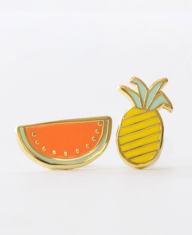 Yellow Owl Workshop Earrings Fruits