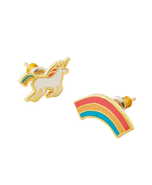 Yellow Owl Workshop Earrings Unicorns and Rainbows