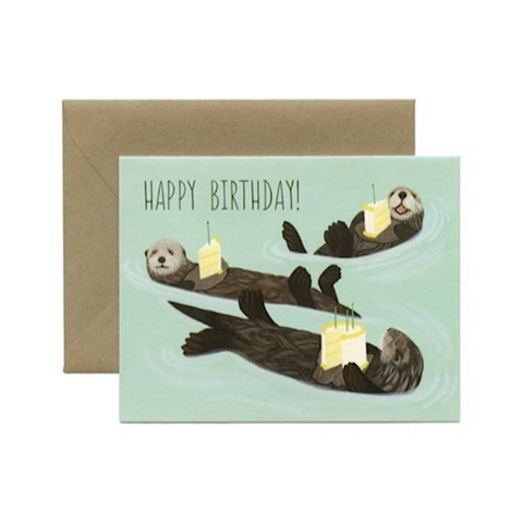 Yeppie Paper Otter Birthday Card