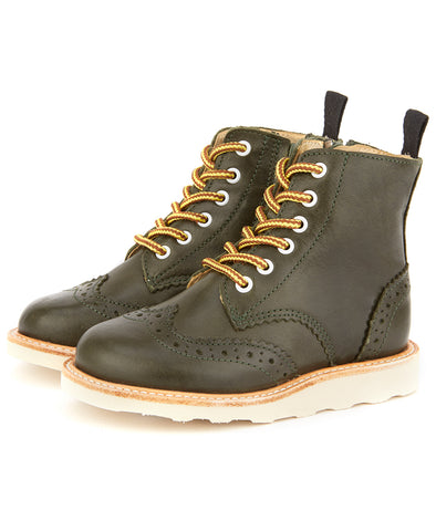 Young Soles Sidney Brogue Leather Boot