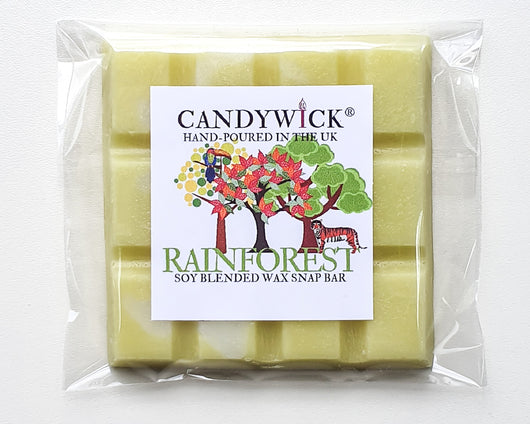 candywick rainforest wax snap bar