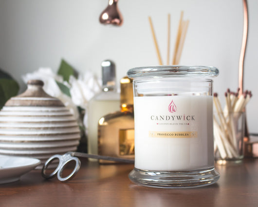 Prosecco Bubbles Candle