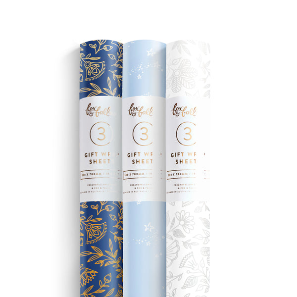 Amulet Gift Wrap Pack - 3 Rolls of 3 Sheets