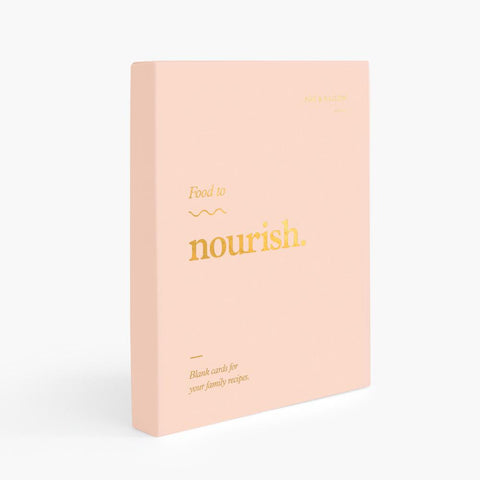 Food To Nourish Blank Recipe Cards