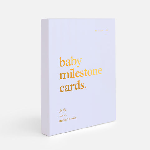 Baby Milestone Cards - Powder Blue