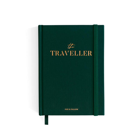 The Traveller Mini Travel Diary - Forest Green