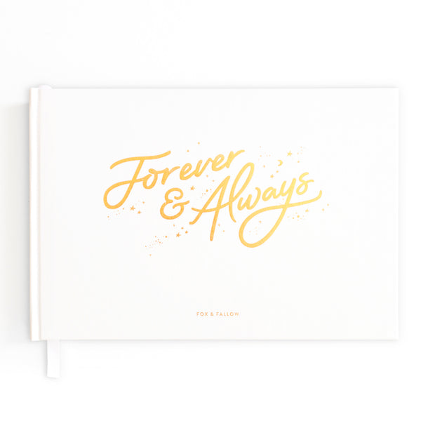 Forever & Always Prompted Wedding Guest Book