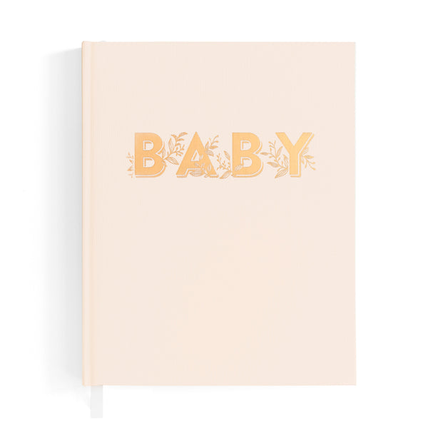 fox and fallow fox & fallow baby book baby journal baby milestones gender neutral cream buttermilk