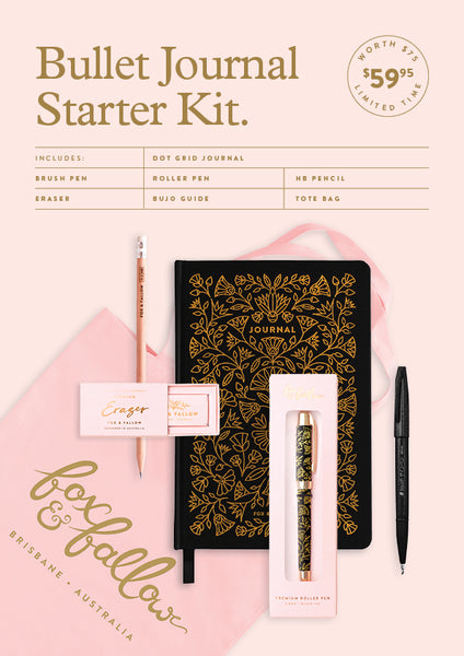 Bullet Journal Starter Kit - Obsidian