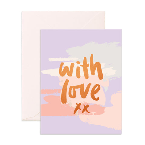 With Love Clouds Greeting Card